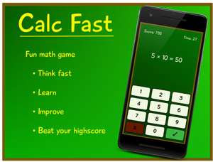 """""""Calc Fast"""" Educational Game (1949 Reviews, 4.4/5, 100K+ Downloads) down to free @ GooglePlay"""