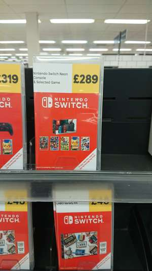 Nintendo Switch plus one of a choice of 5 games for £289 @ Tesco