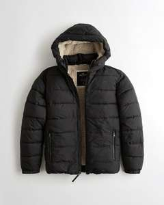Men's hollister padded coat reduced from £99 now £34.70 delivered at Hollister