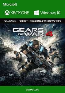 Gears of War 4 Xbox One/PC Play Anywhere £3.49/£3.39 with FB code @ CDKEYS
