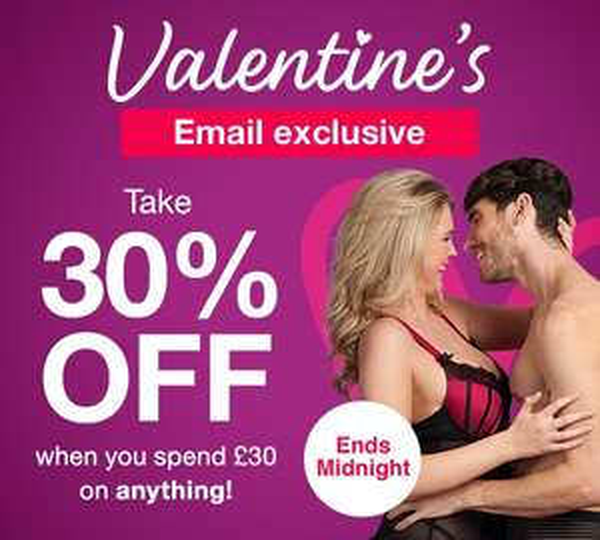 30% Off a £30 Spend @ Lovehoney
