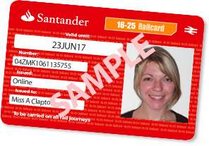 Free 4 Year 16-25 Railcard with a Santander 123 Student Current Bank Account