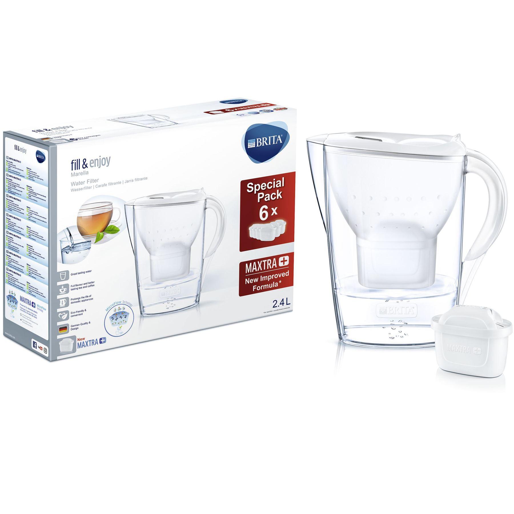 BRITA Marella Cool Water Filter Jug and 6 MAXTRA+ Cartridges £25.99  ozaroo-uk / eBay uk