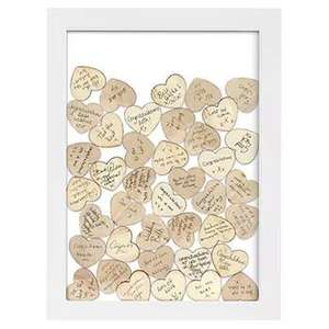 Celebration Drop Box Hanging Frame + 55 Wooden Hearts now £7.50 C+C with code @ The Works