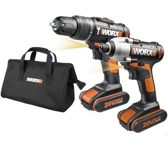 WORX 20V Hammer Drill and Impact Driver - £87.99 @ Argos
