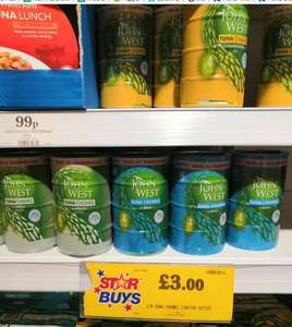 4 pack John West tuna for £3 at Home Bargains