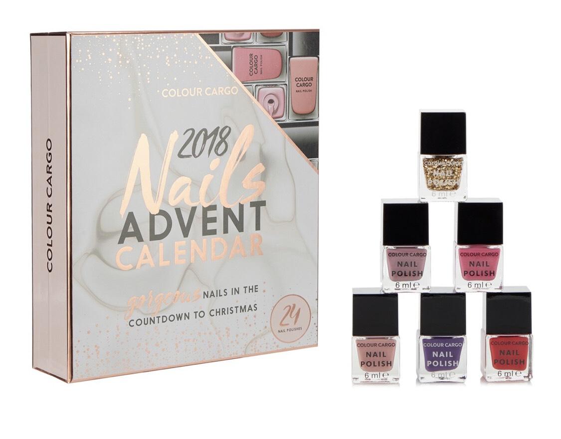 Colour Cargo - 2018 nail advent calendar £5 - (£0.21 a nail polish) at Debenhams - Free C&C
