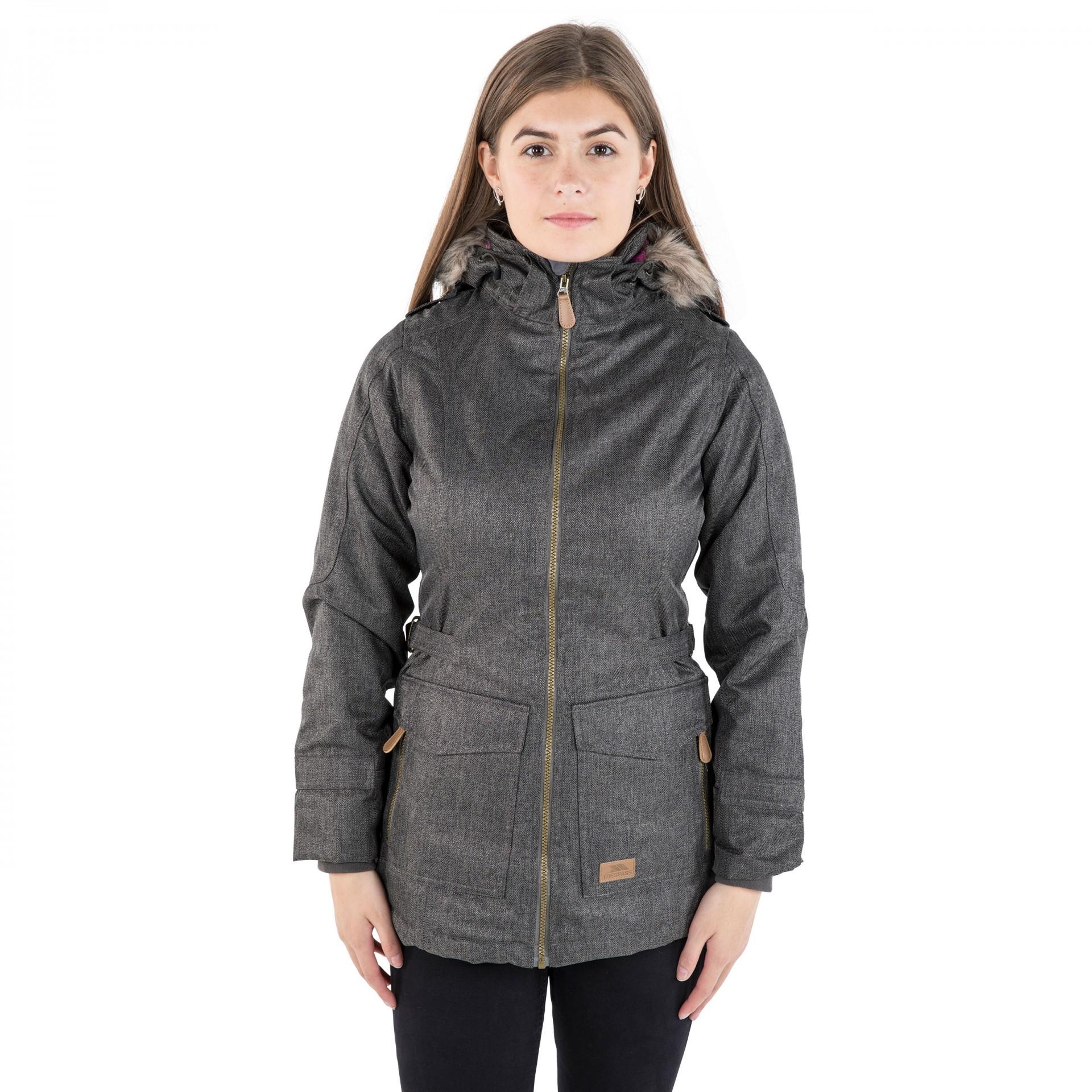 Trespass Everyday Women's Padded Waterproof Jacket marked up £0.00 - free c&c / £2.95 del