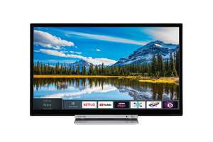 Toshiba 24D3863DB 24-Inch HD Ready Smart TV with Freeview Play and Built In DVD Player - Black/Silver (2018 Model) £149 @ Amazon