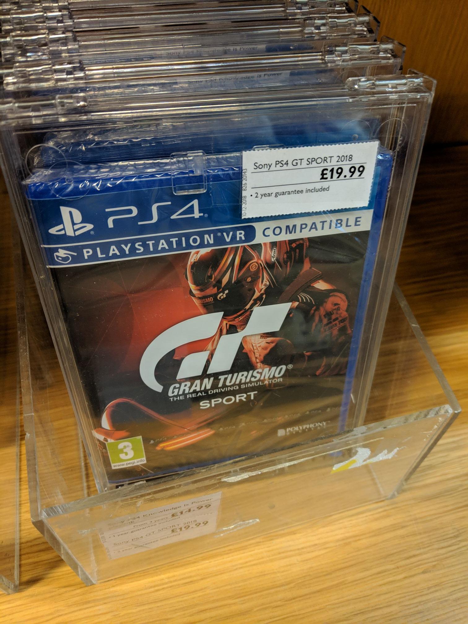 Gran Turismo Sport PS4 £19.99 John Lewis & Partners