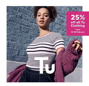 25% off all TU clothing & accessories NOW LIVE online & in-store - ideal for World Book Day @ Sainsbury's TU and Argos