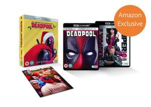 Deadpool 1&2 4K Ultra Hd Amazon Exclusive Christmas Edition Box Sets @ Amazon Deal Of The Day £26.99 Delivered