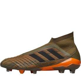 555414539 Adidas Predators 18+ FG Football Boots Trace Olive Schwarz B Orange £99.99