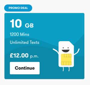 iD Mobile SIMO Deals - 4GB for £9 / 10GB for £12 / 12GB for £15 all 30 day rolling contracts