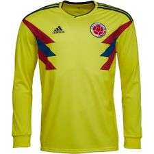 Colombia Home Football Shirt long sleeve £11.99 + £4.99 Delivery @ MandM Direct