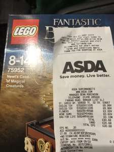 LEGO Fantastic Beasts Newt's Case of Magical Creatures 75952 REDUCED TO £8.99 @ ASDA (POSSIBLE NATIONWIDE, NO YELLOW STICKERS)
