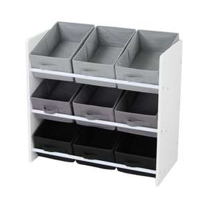 Home Scape 3-Tier Storage Unit with 9 Pull-Out Bins - Black/White - £12.74 with free C&C @ Robert Dyas