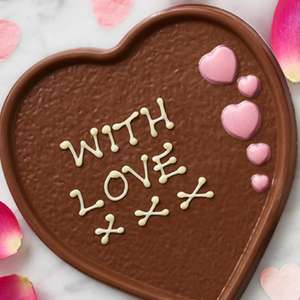 Free Personalised Chocolate Heart Plaque 100g @ Thorntons via O2 Priority