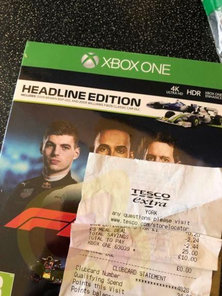 F1 2018 (Xbox One) Headline Edition £10 at Tesco instore