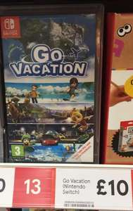 Go Vacation Nintendo Switch £10 instore at Tesco