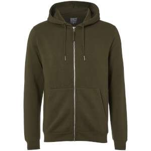 Mens Zip-through Hoodie (Black or Khaki)  - £6.08 delivered @ Zavvi + more