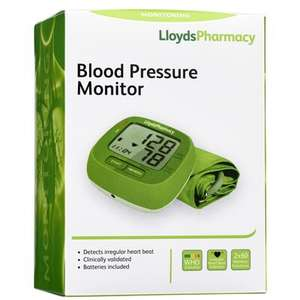 Lloyds Pharmacy Blood Pressure Monitor just £14.99 (free click and collect)