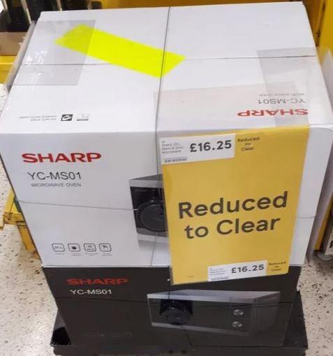 Sharp YC-MS01  20L 800W Microwave SALE - £16.25 Instore @ Tesco (Suffolk)