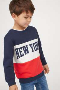 Kids printed sweatshirts only £2.99 at H&M online, free del for club members