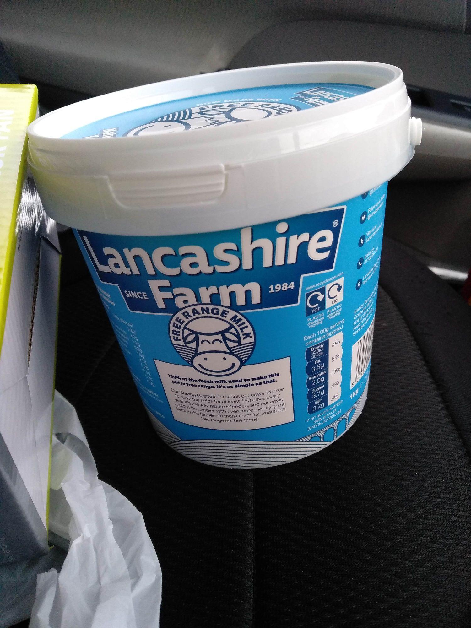 Lancashire Farm Yogurt (1ltr) 62p in ASDA instore