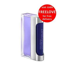 PACO RABANNE Ultraviolet Man Eau de Toilette 100ml Spray @ BeautyBase now £28 Free delivery with Code FREELOVE & Free sample