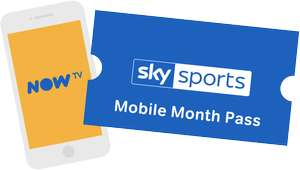 2 months of Sky Sports Mobile Month Pass for just £1 per month @ NowTV