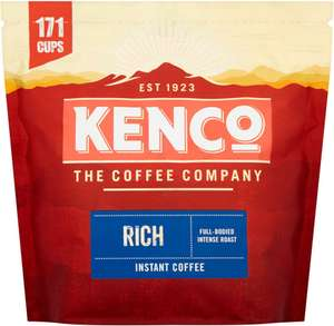 Kenco (Rich or Smooth) Instant Coffee Refill 275g for £3.79 at Poundstretcher