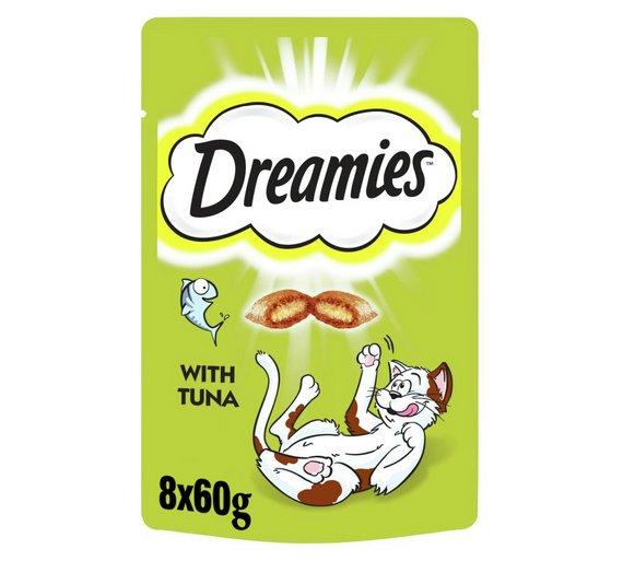 Dreamies Cat Treats with Tuna or Salmon 8 x 60g £4.99 (62p per packet) @ Argos
