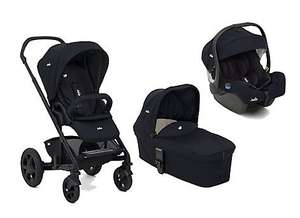 Joie Chrome dlx travel system in navy inc carrycot, pushchair and i-Size car seat drops from £530 to £330 when added to basket @ Mothercare