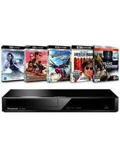 Panasonic: 4K Ultra HD Blu-ray Player and 5 4K UHD Bundle (DP-UB391EB) £116.99 w/code @ Zoom