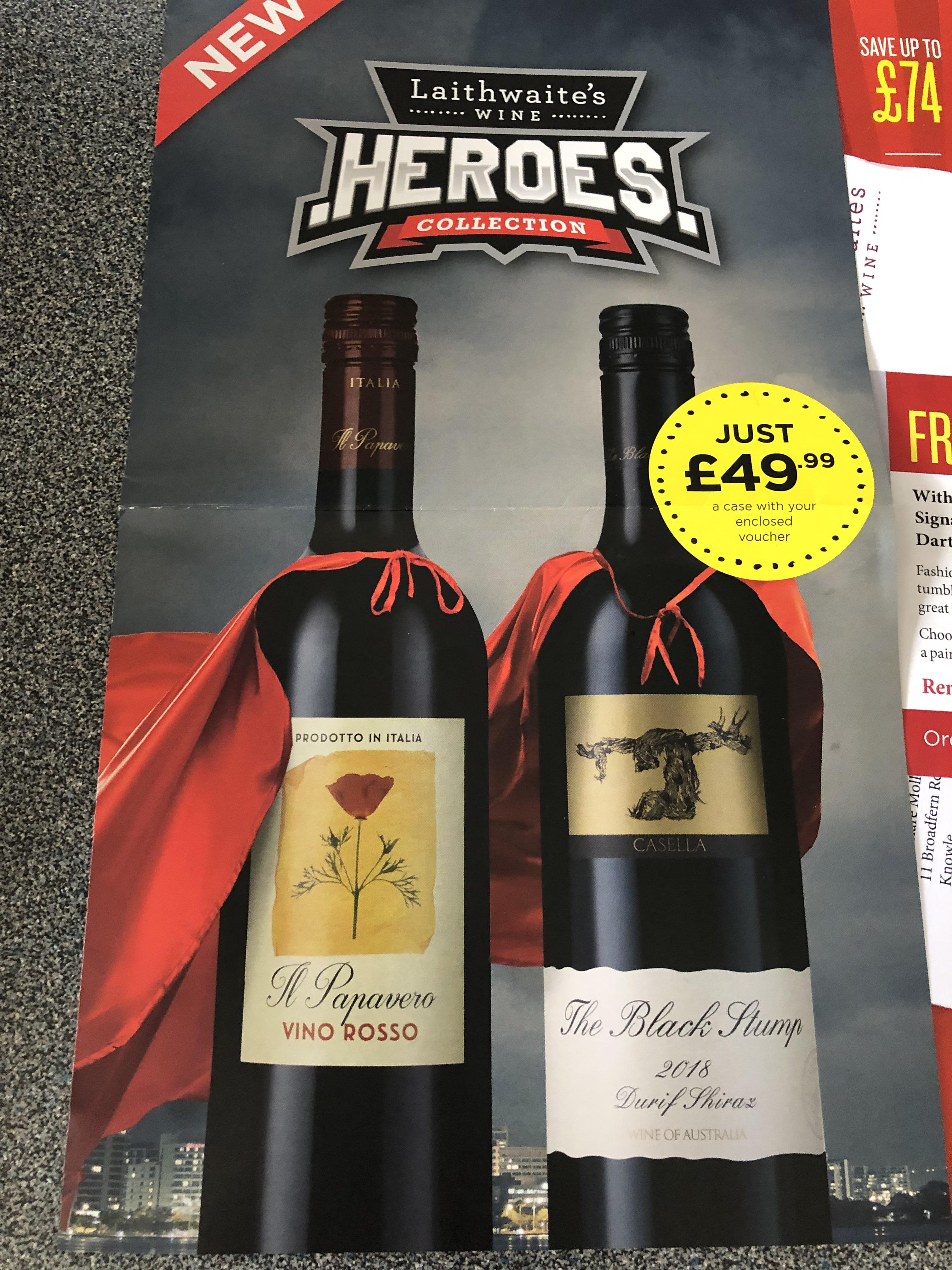 12 bottles of Laithwaites wine for £49.99 delivered