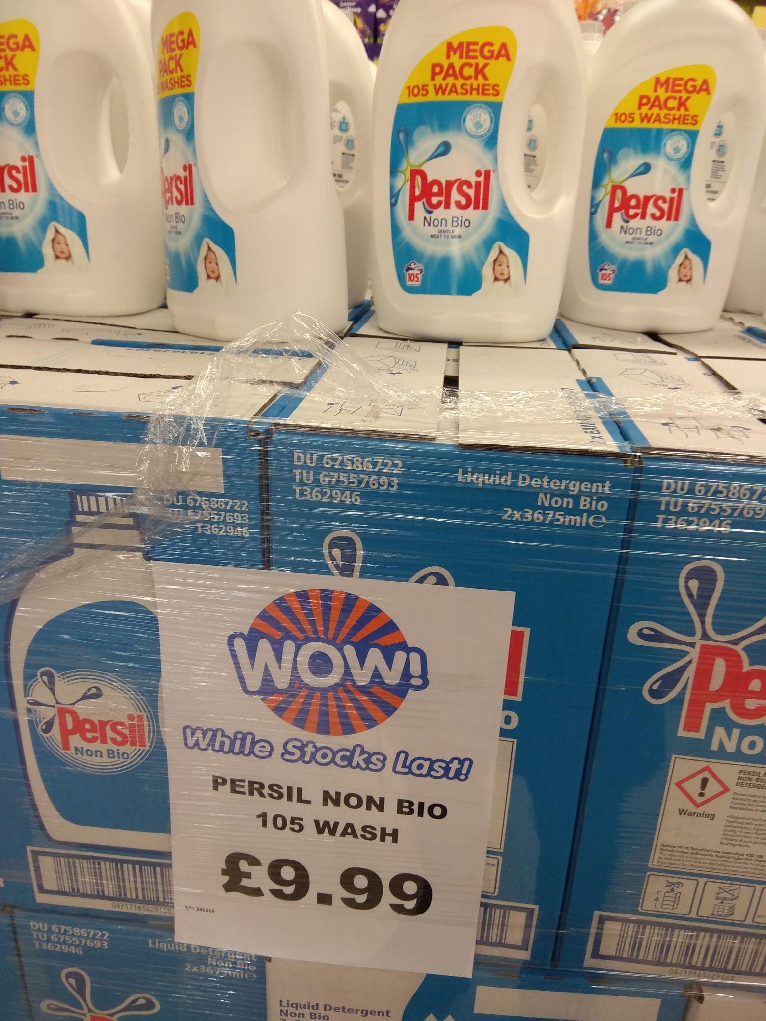 Persil Non Bio Liquid Detergent 105 Washes Mega Pack - £9.99 Instore @ B&M