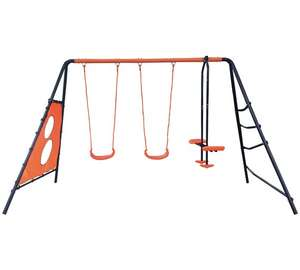 Hedsrom Ariel Multiplay Double Swing Set Was £129.99, then on sale for £64.99, now for £56.99 Free C&C @ Argos
