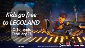 Legoland - Kids go free with a full price adult ticket when you book to see The Lego Movie 2 at Odeon