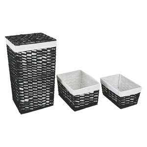 Woven laundry bin with 2 nested baskets from Habitat for £16.95 delivered