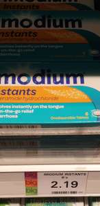Imodium Instants 6 pack £2.19 @bodycare instore only.