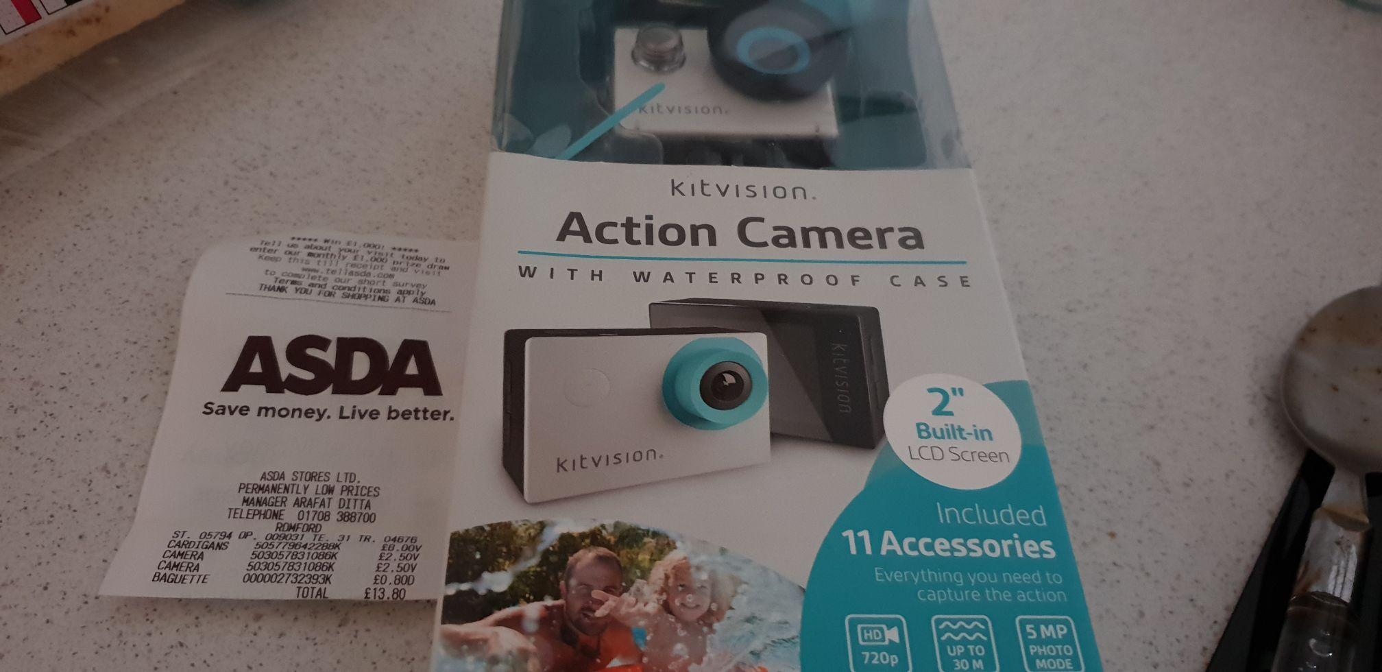 Kitvision Action Camera £2.50 Asda Romford
