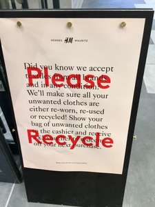 H&M clothes recycling offer - Get a FREE £5 voucher for unwanted clothing
