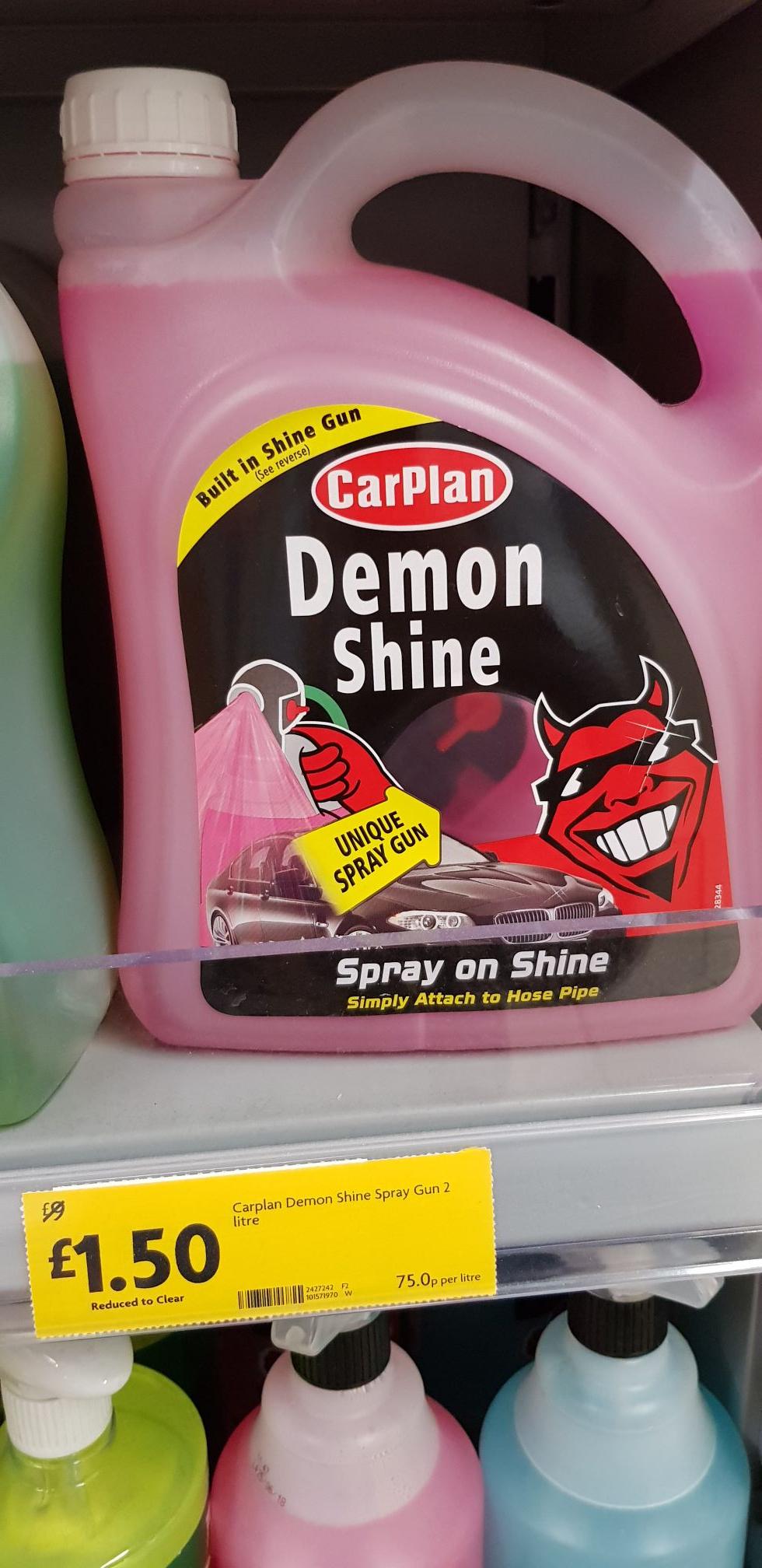 Car plan 2litre  Demon shine in-store Morrison's for £1.50