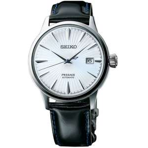 Seiko Men's Presage Automatic Leather Strap Watch SRPB43J1 aka Cocktail time  £234 @ Lowry jewellers