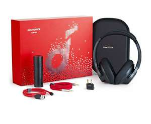 Anker Gift Set, Over-Ear Headphones, PowerCore 5000, PowerLine+ Cable, AUX Cable, Airplane Adaptor £65.99 Sold by AnkerDirect FB Amazon.