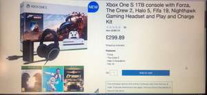 Xbox One S 1TB console with Forza, The Crew 2, Halo 5, Fifa 19, Nighthawk Gaming Headset and Play and Charge Kit - £299.89 @ Costco
