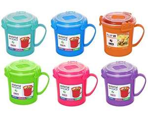 Sistema Microwavable Soup Mug Container Assorted Colours 6 Pack 656MLRRP £22.99 now £3.00 @ clearanceshed.co.uk (£2.99 delivery)
