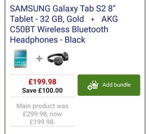 Samsung Galaxy Tab S2 8inch tablet & AKG C50BT wireless Bluetooth headphones worth £75 for £199.98 Currys
