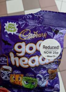 Cadbury Goo Heads mini (89g packet) 25p was £1 @ WHSmith in-store (found in Bury store with short best before date)